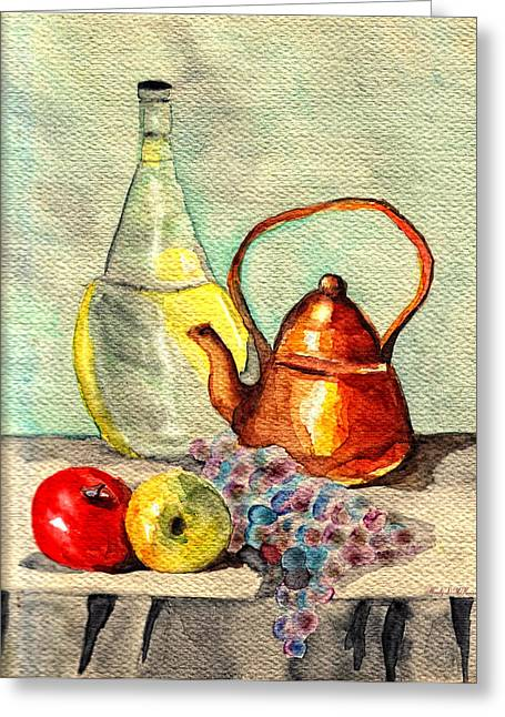 Fineartamerica Drawings Greeting Cards - Still Life Greeting Card by Wendy McKennon