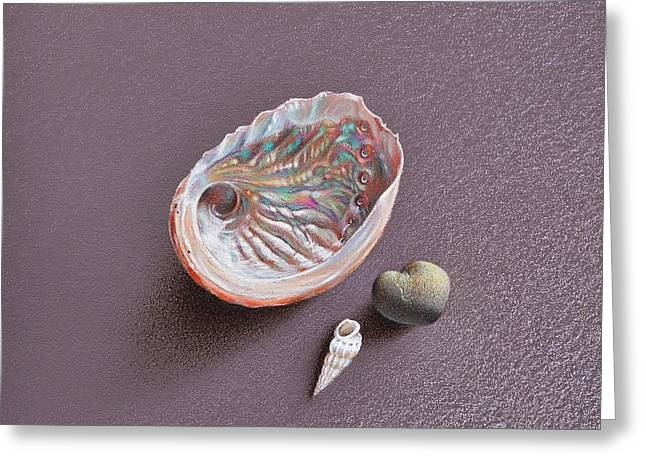 Still life with Abalone Shell Greeting Card by Elena Kolotusha