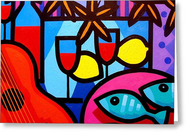 Matisse Greeting Cards - Still Life With Guitar And Fish Greeting Card by John  Nolan