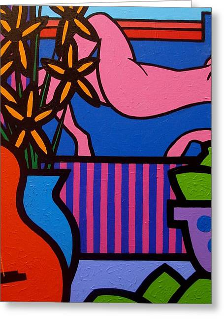 Flower Still Life Prints Greeting Cards - Still Life With Matisse  II Greeting Card by John  Nolan