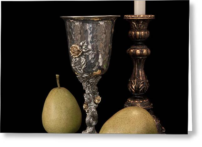 Still Life with Pears Greeting Card by Tom Mc Nemar