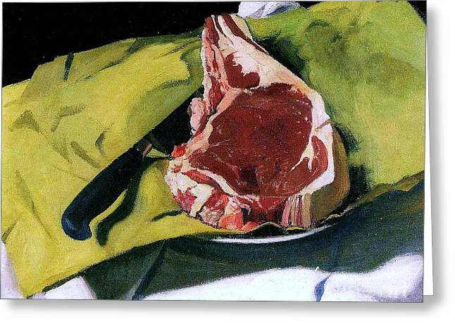 Vallotton Greeting Cards - Still Life with Steak Greeting Card by Pg Reproductions