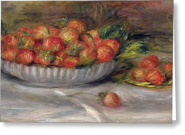 Still Life With Strawberries Greeting Card by Pierre Auguste Renoir