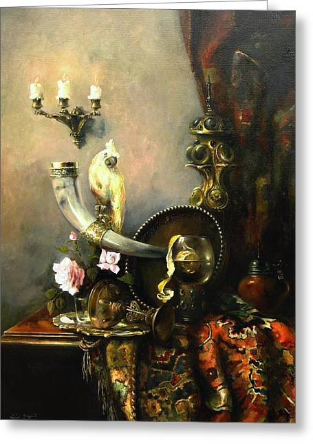 Girlfriend Greeting Cards - Still-life with the dojra Greeting Card by Tigran Ghulyan