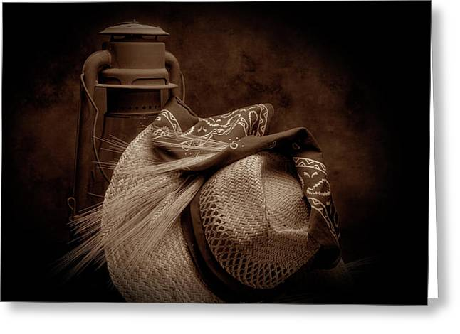 Bandana Greeting Cards - Still Life with Wheat II Greeting Card by Tom Mc Nemar