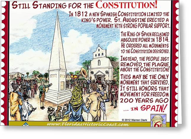 Still Standing For The Constitution Greeting Card by Warren Clark