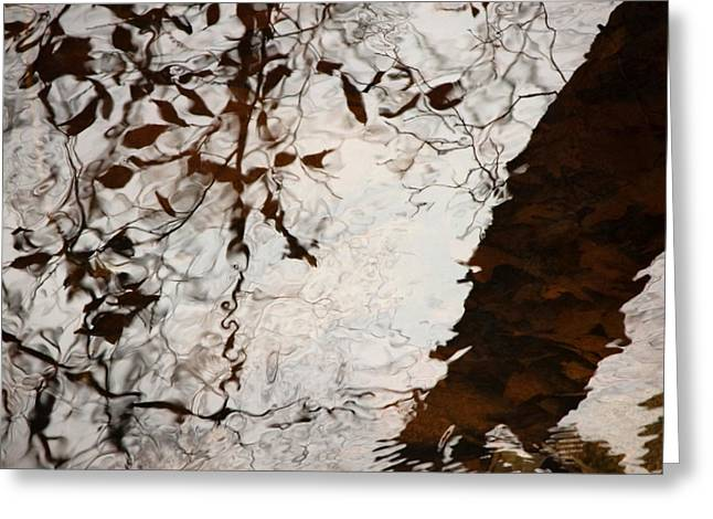 Lacy Abstract Greeting Cards - Still Water Woman Greeting Card by Joanne Baldaia - Printscapes
