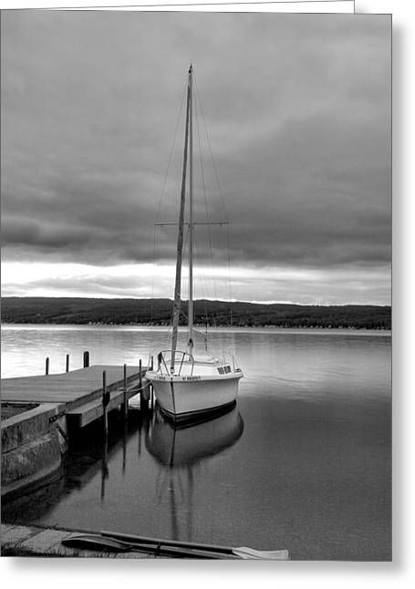 Keuka Greeting Cards - Still Waters Greeting Card by Steven Ainsworth