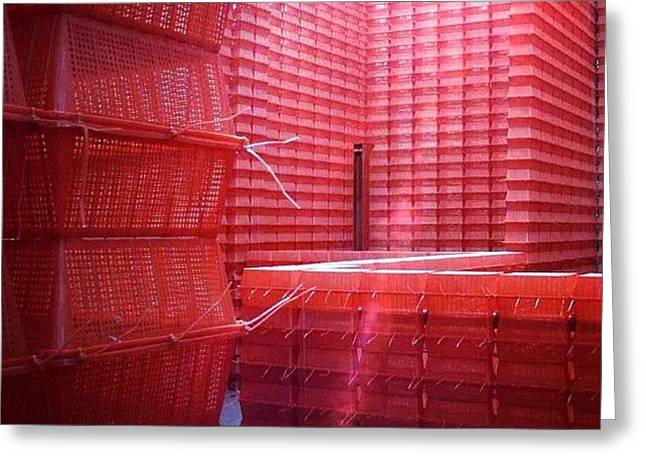 Stimulus Package..#red #crates Greeting Card by A Rey