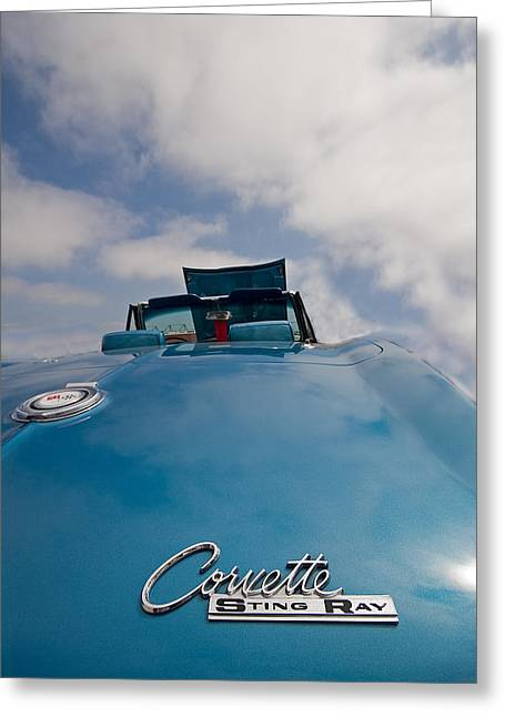 Blue Car. Greeting Cards - Sting Ray Greeting Card by Peter Tellone