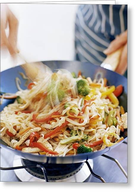 Noodles Greeting Cards - Stir Fry Greeting Card by David Munns