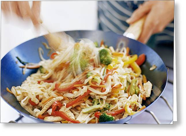 Stir Fry Greeting Card by David Munns