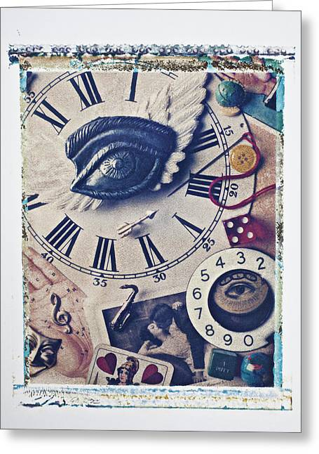 Theater Masks Greeting Cards - Stitch In Time Greeting Card by Garry Gay