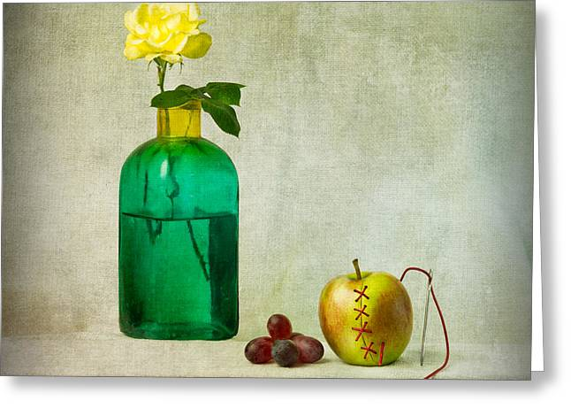 Apple Art Greeting Cards - Stitched Up Greeting Card by Ian Barber