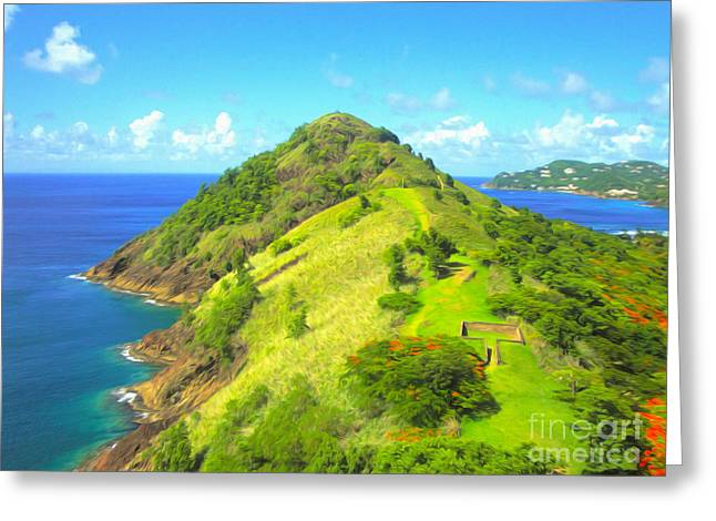 Gregory Dyer Greeting Cards - StLucia - Gorilla Rock Greeting Card by Gregory Dyer