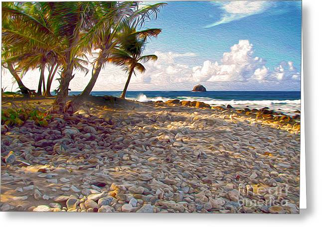 Gregory Dyer Greeting Cards - StLucia - Pidgeon Point Greeting Card by Gregory Dyer