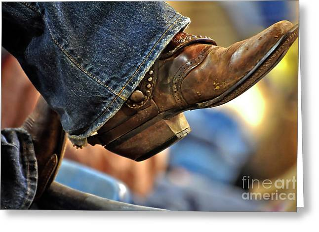 Boots Greeting Cards - Stock Show Boots I Greeting Card by Joan Carroll