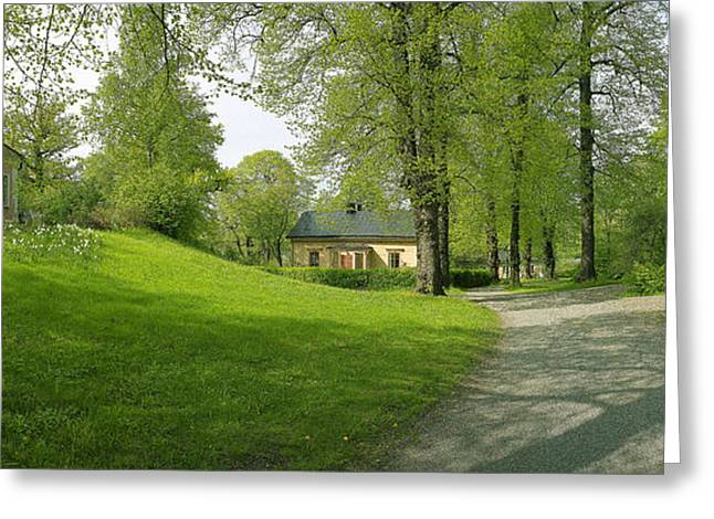Walk Paths Greeting Cards - Stockholm Gardens Greeting Card by Jan Faul