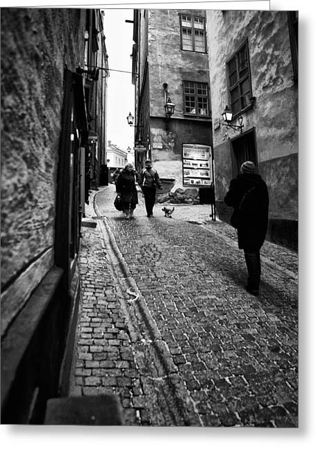 Business Beauties Greeting Cards - Stockholm Old Town Greeting Card by Stylianos Kleanthous