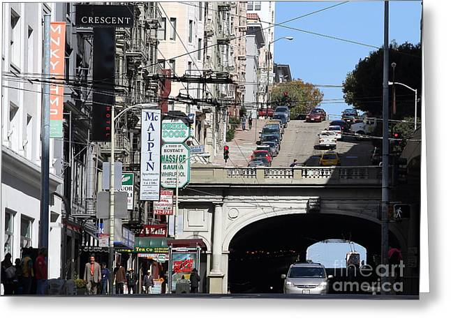 Union Square Greeting Cards - Stockton Street Tunnel San Francisco . 7D7355 Greeting Card by Wingsdomain Art and Photography