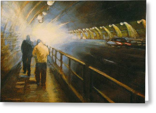 Stockton Paintings Greeting Cards - Stockton Tunnel Greeting Card by Meg Biddle