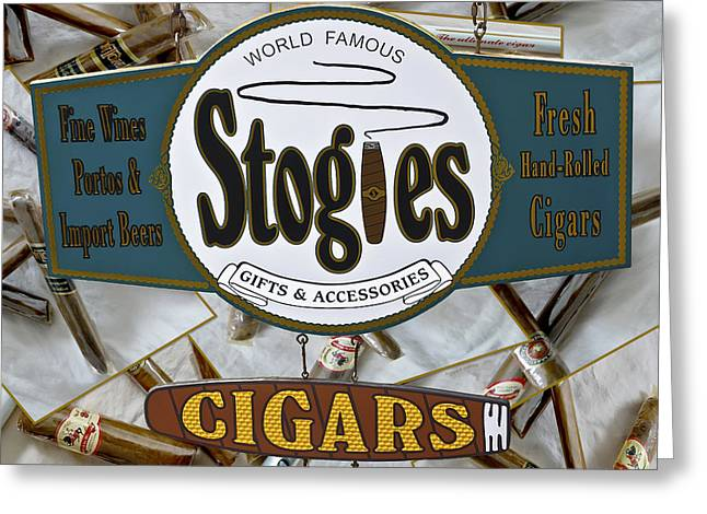 Stogie Greeting Cards - Stogies Greeting Card by DigiArt Diaries by Vicky B Fuller