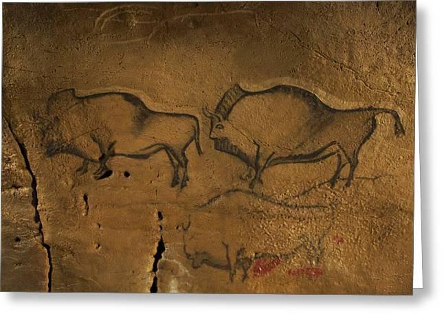 Stone-age Cave Paintings, Asturias, Spain Greeting Card by Javier Truebamsf