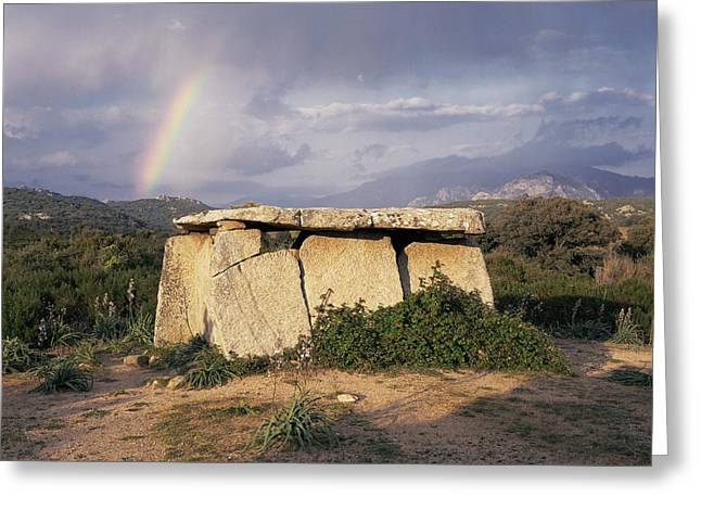 Dolmen Greeting Cards - Stone Age Megalithic Tomb Greeting Card by Bjorn Svensson