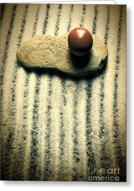 Life Line Greeting Cards - Stone And Sand Greeting Card by HD Connelly