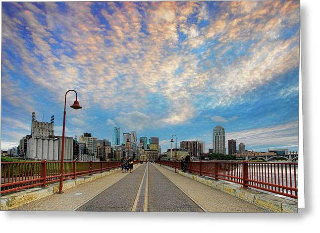 Twin Cities Greeting Cards - Stone Arch Bridge Greeting Card by Rick Berk