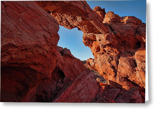 Nevada State Park Greeting Cards - Stone Arch Greeting Card by Rick Berk