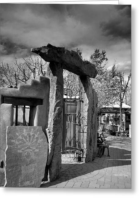 Southwest Gate Print Greeting Cards - Stone Arch Greeting Card by Steven Ainsworth