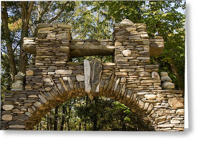 East Haddam Connecticut Greeting Cards - Stone Archway At The Entrance Greeting Card by Todd Gipstein