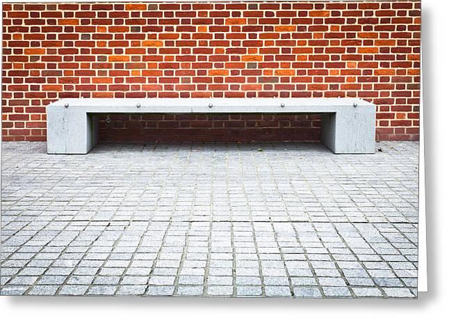 Stone Bench Greeting Card by Tom Gowanlock