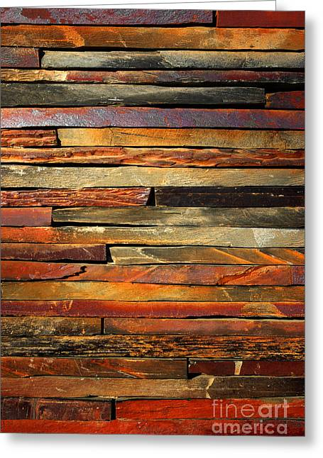 Red Wall Greeting Cards - Stone Blades Greeting Card by Carlos Caetano