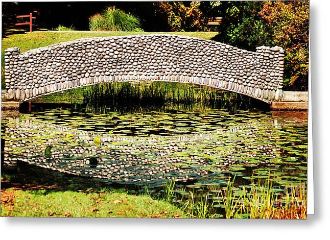 Westfield Greeting Cards - Stone Bridge Greeting Card by HD Connelly