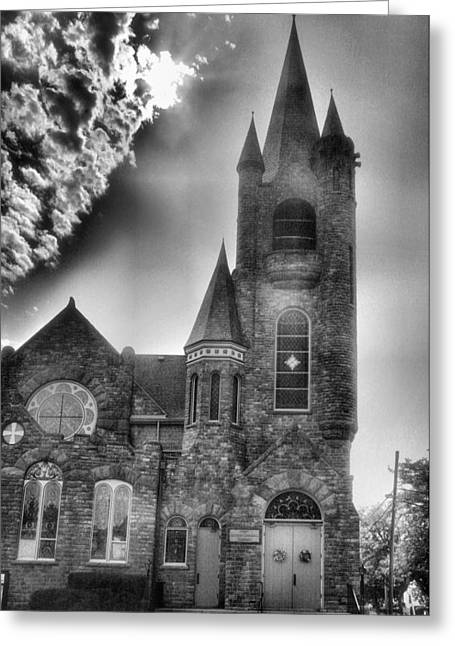 Religion Acrylic Prints Greeting Cards - Stone Church 1 Greeting Card by Steven Ainsworth