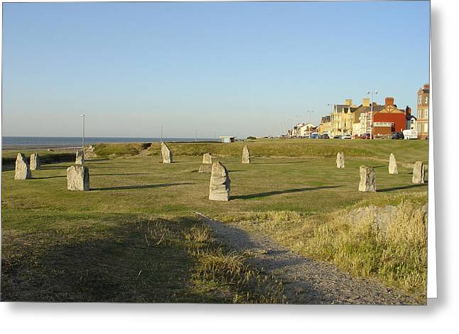 Buildings Greeting Cards - Stone Circle - Rhyl Greeting Card by Rod Johnson