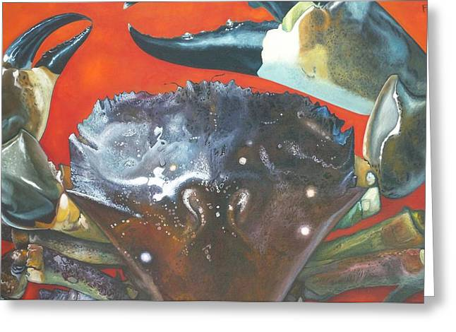 Grouper Print On Canvas Greeting Cards - Stone Crab  Greeting Card by Jon Ferrentino