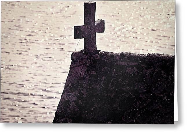 Stones Photographs Greeting Cards - Stone Cross Greeting Card by Joana Kruse