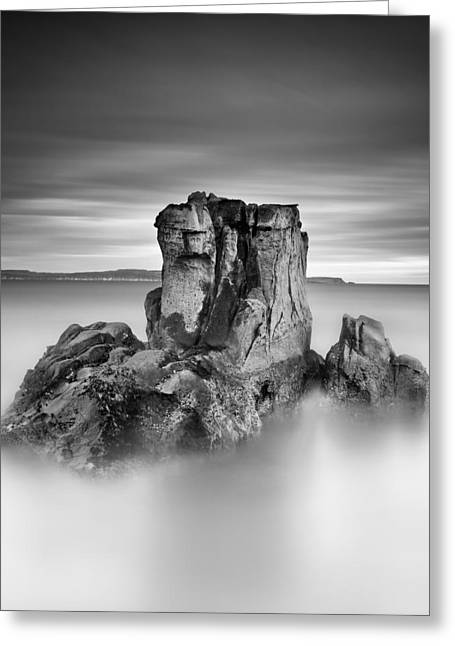 Ballycastle Greeting Cards - Stone face Greeting Card by Pawel Klarecki