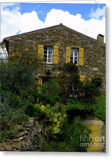 Provence Village Greeting Cards - Stone House in Provence Greeting Card by Lainie Wrightson