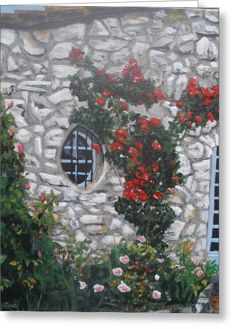 Menton Greeting Cards - Stone house Menton  France Greeting Card by Betty-Anne McDonald