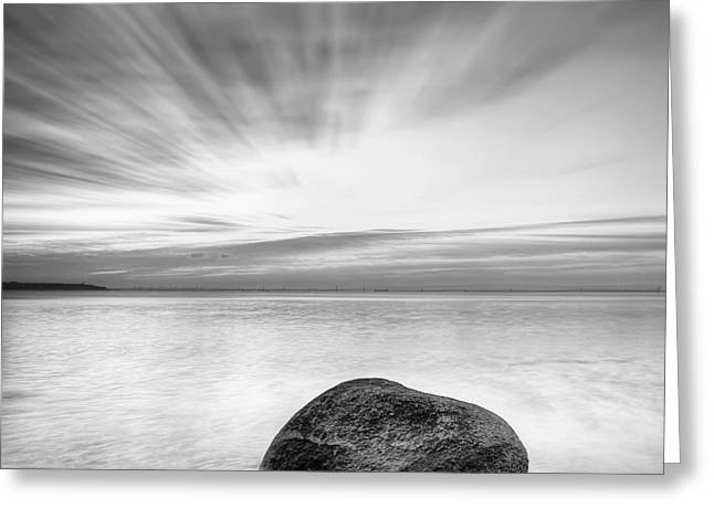 Stone Greeting Cards - Stone in the sea Greeting Card by Evgeni Dinev