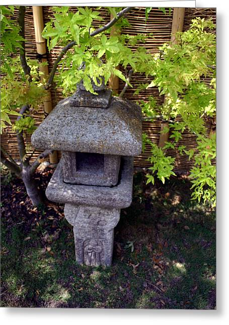 Stone Lantern Greeting Card by Nina Fosdick