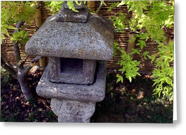 Stone Lantern Greeting Card by Nina Fosdick