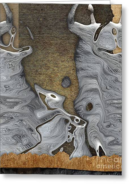 Celebrate Greeting Cards - Stone Men 28b - Celebration Greeting Card by Variance Collections