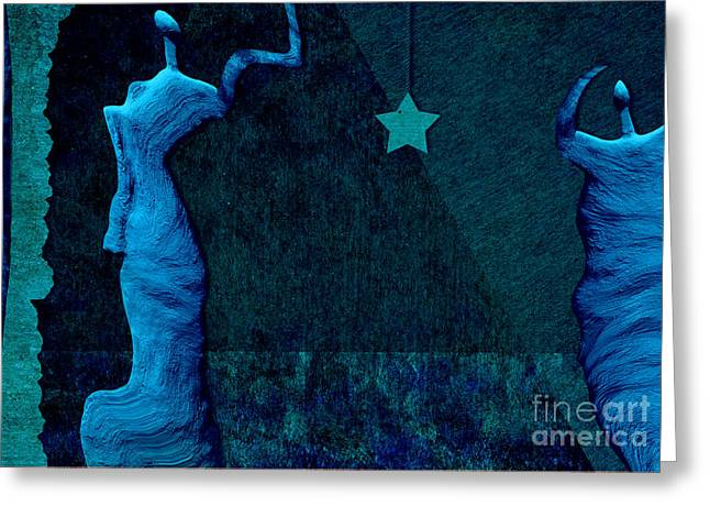 Stones Digital Art Greeting Cards - Stone Men 30-33 c02c - Les Femmes Greeting Card by Variance Collections