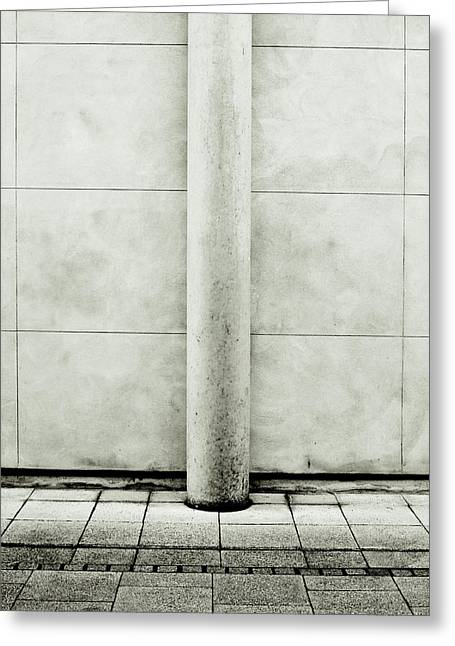Cement Court Greeting Cards - Stone pillar Greeting Card by Tom Gowanlock