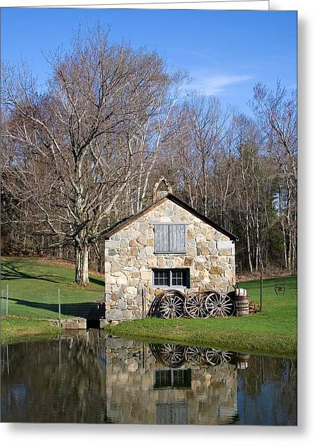 4 Stones Greeting Cards - Stone Shed Spring  Greeting Card by Larry Landolfi